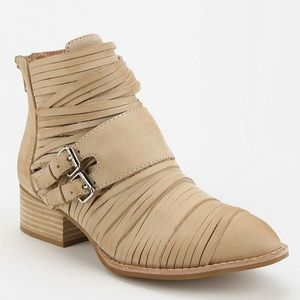 Jeffrey Campbell Isley Ankle Boot Natural Tan Sz 6